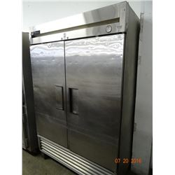 True S/S Refrigerated 2 Door Reach In - Tested at 37 deg.