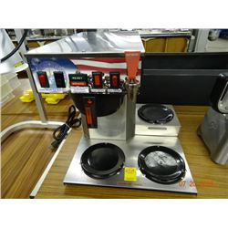 Coffee Brewer 3 Burner Brewer w/ Hot Water Tap