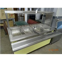 Delfield 4 Comp Steam Table - Broken Plexiglass