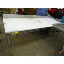 Cutboard 6' Table w/S/S Base & Backsplash