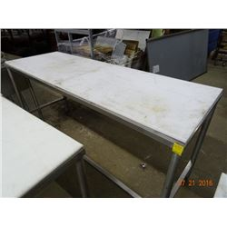 Cutboard 6' Table w/S/S Base