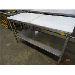Cutboard 5' Table w/S/S Base