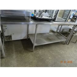 "91"" S/S Table w/Undershelf"