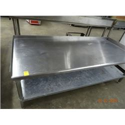 6' S/S Equipment Stand w/Undershelf