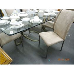 Cobra Base Glasstop Table w6 Chairs No Shipping