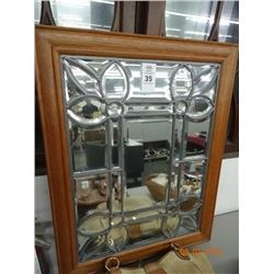 Leaded Glass Framed Mirror  No Shipping