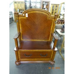 Mahogany Bench w/Storage
