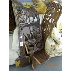 2 Carved African Birthing Chairs - 2 Times the Money