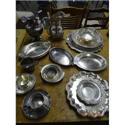 Silver Plate Pitchers/Platters/Dishes