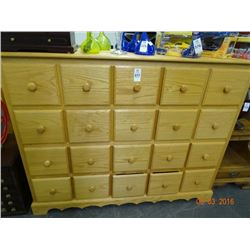 Oak 20-Drawer Chest