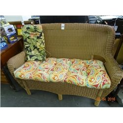 Wicker Padded Love Seat