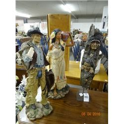 Native American & Cowboy Figurine