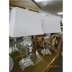 2 Cut Glass Table Lamps - 2 Times the Money