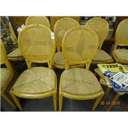 6 Rush Seat Dining Chairs - 6 Times the Money