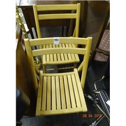 2 Wood Folding Chairs - 2 Times the Money