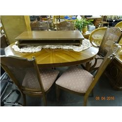 Mahogany Dining Table w/6 Chairs