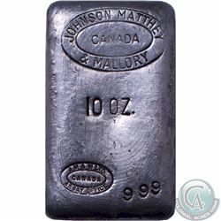 Vintage Johnson Matthey Amp Mallory 10 Oz Silver Bar