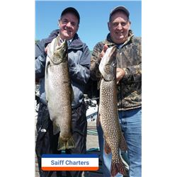 "Salmon & Trout Fishing with Capt. Bill Saiff Jr. aboard the ""Rod & Reel"" – Full Day Charter"