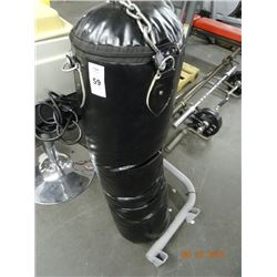 Black Leather Punching Bag
