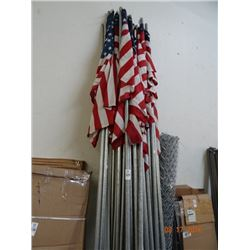 Lot of American Flag Poles - 10' ?