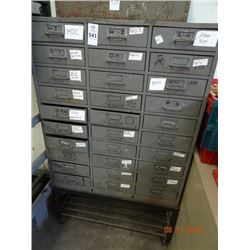 30 Drawer Parts Cabinet on Cart