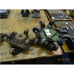 Lot of Heavy Equipment Dollies