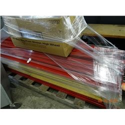 Lot of Red Heavy Duty Shelving