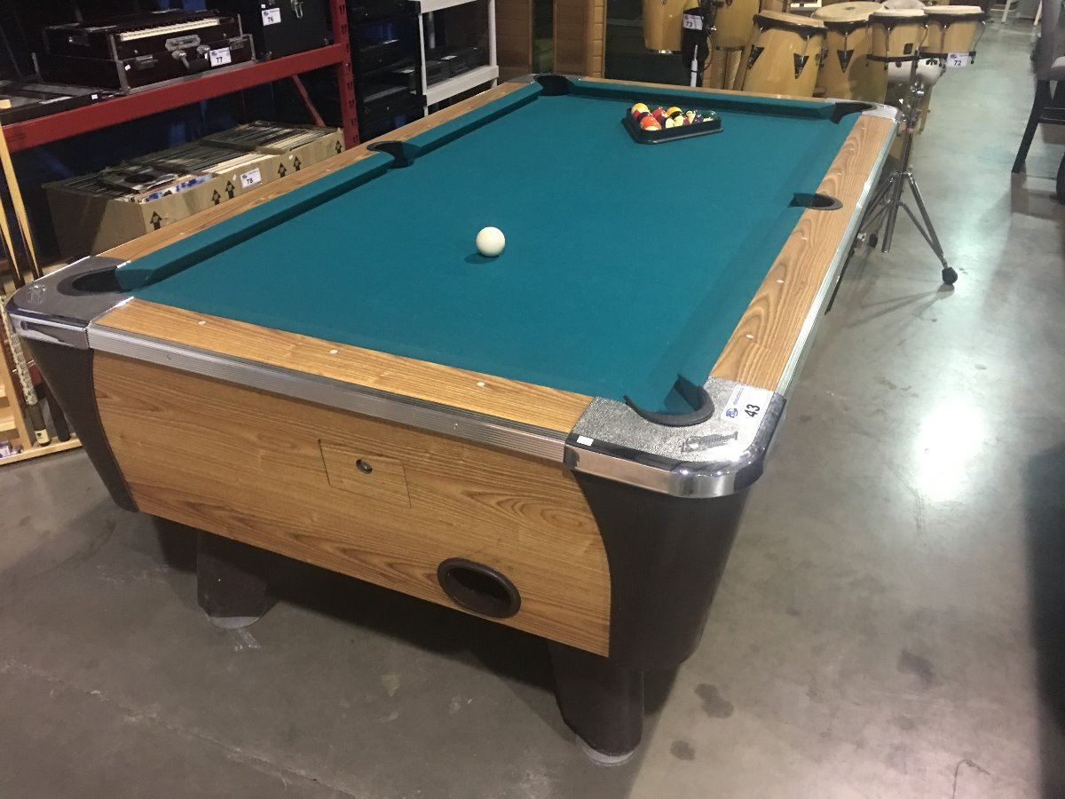 DYNAMO COIN OPERATED POOL TABLE CW WALL HANGING POOL CUE RACK - Dynamo coin operated pool table