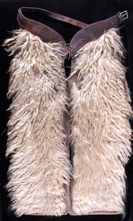 Antique Western Cowboy Wooly Chaps