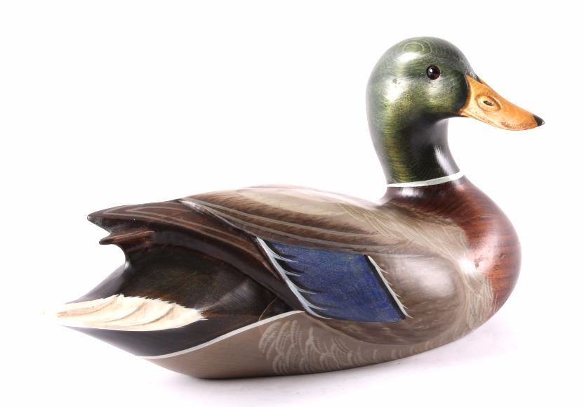 Big Sky Carvers Wooden Carved Mallard Duck Decoy