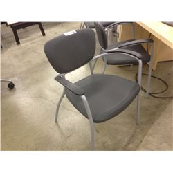 GLOBAL CAPRIS GREY CLIENT CHAIR