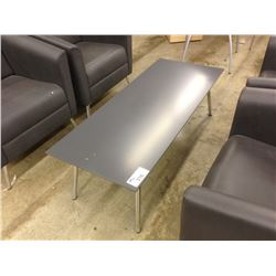GREY CHROME FRAMED 4' RECEPTION TABLE
