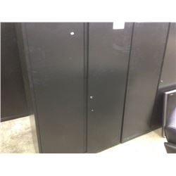 HERMAN MILLER MERIDIAN 5' TALL BLACK 2 DOOR STORAGE CABINET