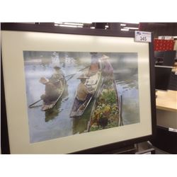 """""""THE RIVER MARKET"""" FRAMED WATERCOLOUR"""