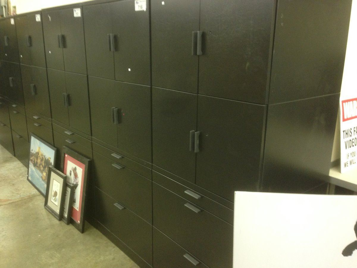 Herman miller meridian black 6 39 tall 2 drawer lateral file for Meridian cabinet doors