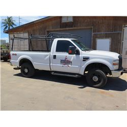 08 Ford F250 XL Super Duty V8 Pickup Truck (Lic. 114 TTF) w/ Rack
