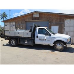 06 Ford F350 (Lic. 159 TSA) w/2 Fuel Tanks, Wacker Generator, Compressor