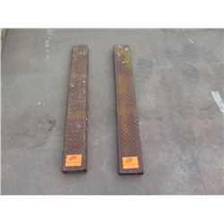 Pair: Forklift Fork Extensions - 50 Inches Long