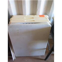 Lot of 4 White Plastic Folding Tables
