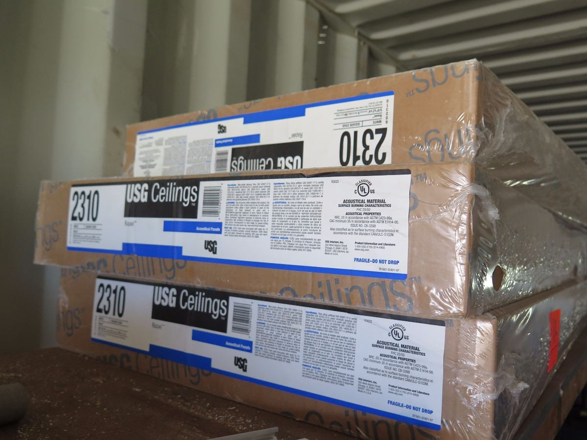 2 boxes usg ceilings lay in ceiling tiles image 2 2 boxes usg ceilings lay in ceiling tiles dailygadgetfo Choice Image