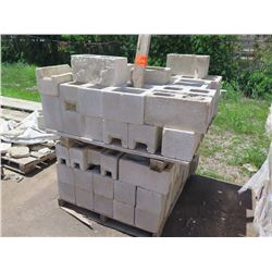 "Misc. Bricks (Contents of Pallet) - Approx. qty 60 (4""X4""), approx. qty 16 (4""X8"")"
