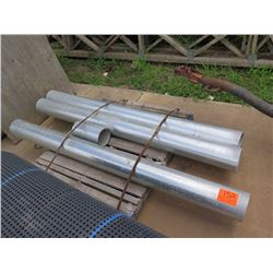 "Contents of Pallet: 4 Metal Pipes (Approx. 80"" Long, 6.5"" Diameter)"