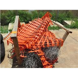 Contents of Pallet: Chain Link Fence Orange Safety Barrier