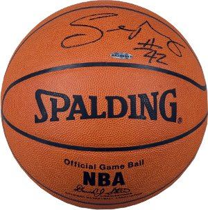 Sean May Signed Spalding NBA Leather Official Game