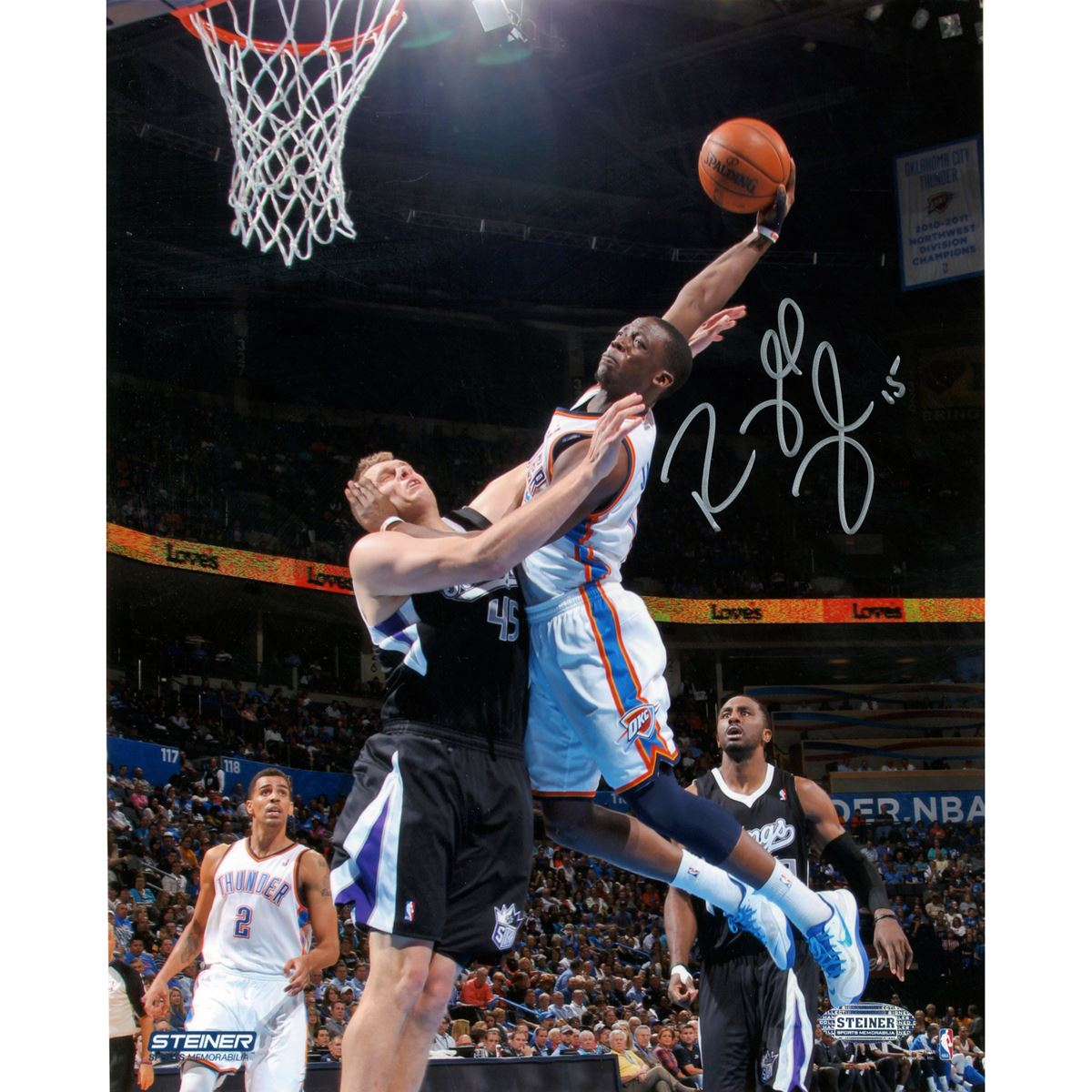 reggie jackson oklahoma city thunder dunk signed 8x10 photo