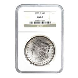 1883-O $1 Morgan Silver Dollar - NGC MS63