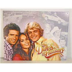 THE DUKES OF HAZZARD METAL SIGN
