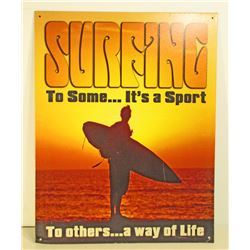 SURFING METAL SIGN