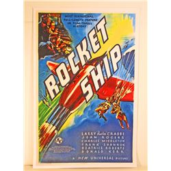 ROCKET SHIP MOVIE POSTER PRINT