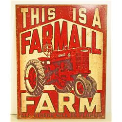FARMALL FARM ADVERTISING METAL SIGN